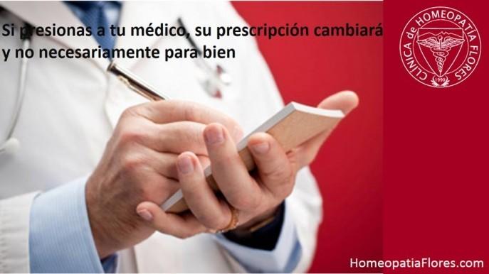 No presiones a tu médico