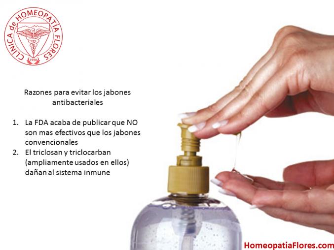 Razones para no usar jabones antibacteriales