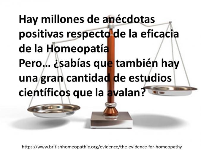 Homeopatía basada en evidencia