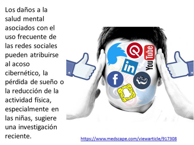 Uso de redes sociales vinculado 'indirectamente' a daños a la salud mental