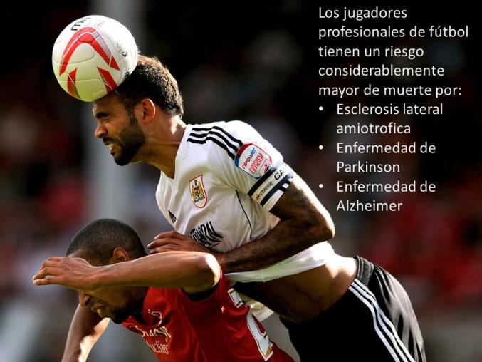 Los jugadores profesionales de fútbol tienen un riesgo considerablemente mayor de muerte por enfermedades neurodegenerativas.