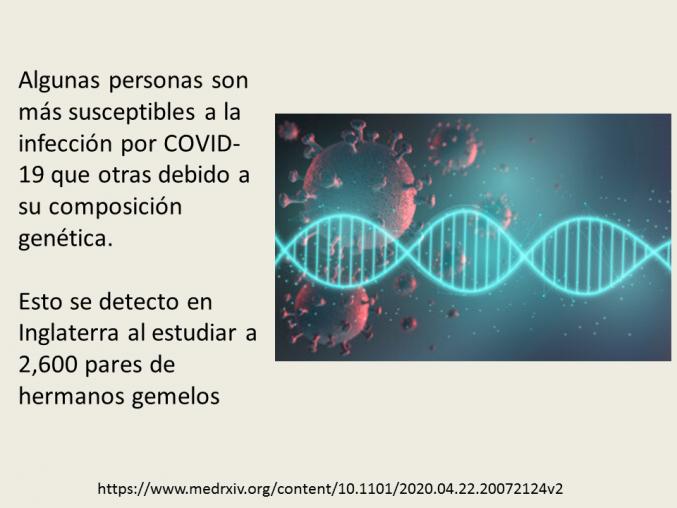 Los genes y la gravedad del COVID-19